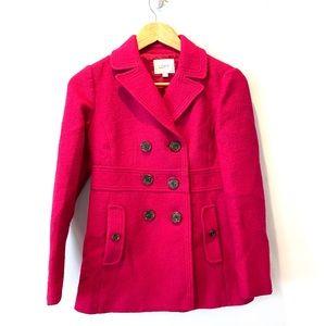 Ann Taylor Loft Petites Wool Lined Pea Coat